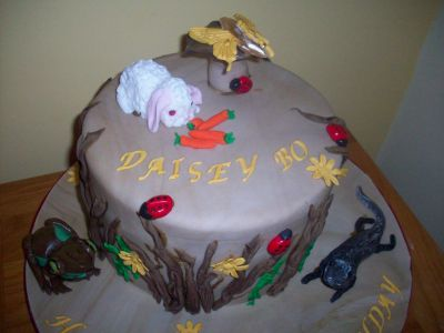 Rabbit Insects Birthday Cake