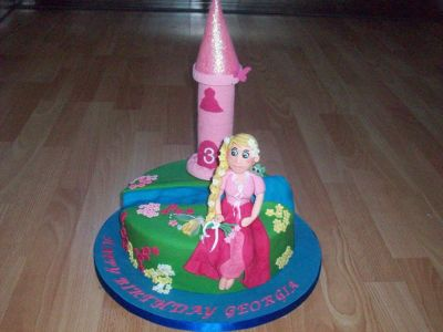 Repunzel Birthday Cake