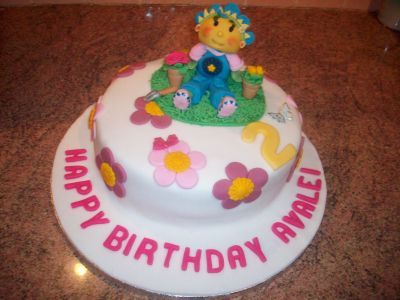 Flower Pot Birthday Cake